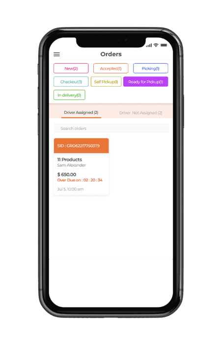 MULTISTORE GROCERY SHOPPING STORE APP- READY FOR PICKUP