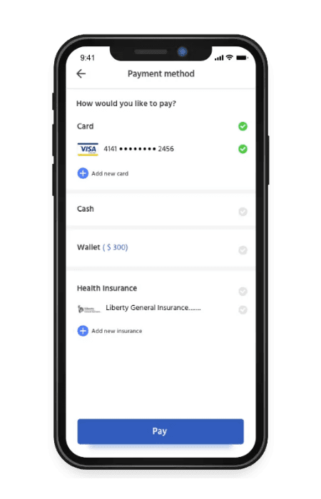 On demand health payment options