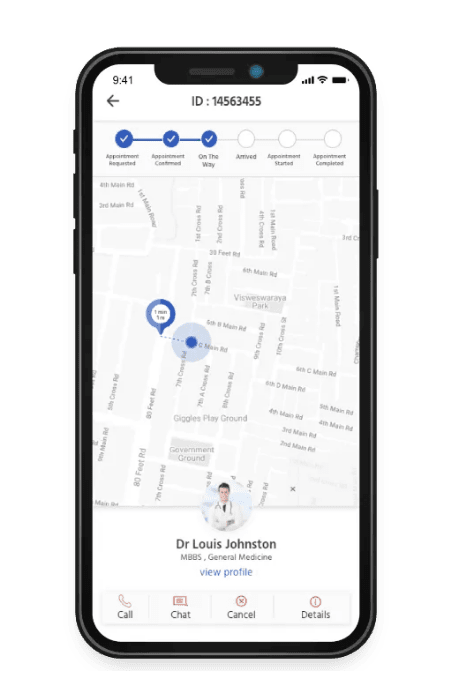 Uber for doctors live track your doc