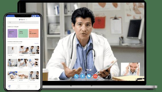 Uber for Doctors Booking Screen